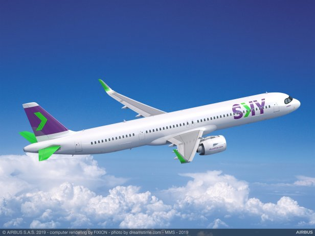 avion Airbus A321XLR SKY Airline