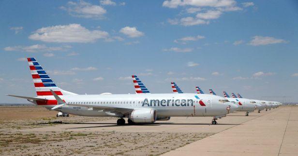 American 737 MAX aparcados