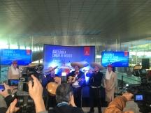 emirates dubai barcelona ciudad de mexico vuelo inaugural mariachis