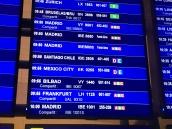 emirates dubai barcelona ciudad de mexico vuelo inaugural pantallas aeropuerto