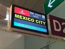 emirates dubai barcelona ciudad de mexico vuelo inaugural puerta de embarque