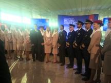 emirates dubai barcelona ciudad de mexico vuelo inaugural tripulación