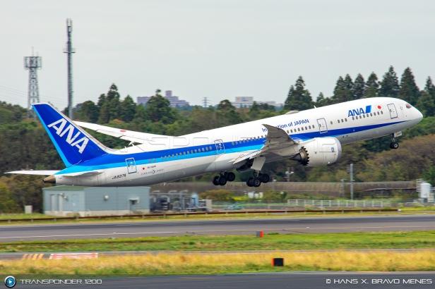 Boeing 787 de All Nippon Airways ANA despegando