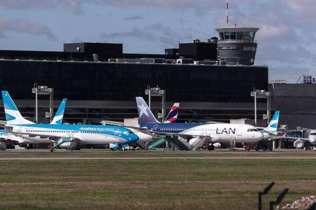 LATAM Airlines en el Aeropuerto Aeroparque de Buenos Aires, Argentina